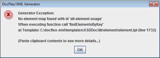 running generator documentation docflex xml