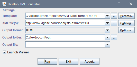 FlexDoc/XML - WSDLDoc (WSDL Documentation Generator)