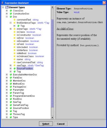 Doclet API DSM