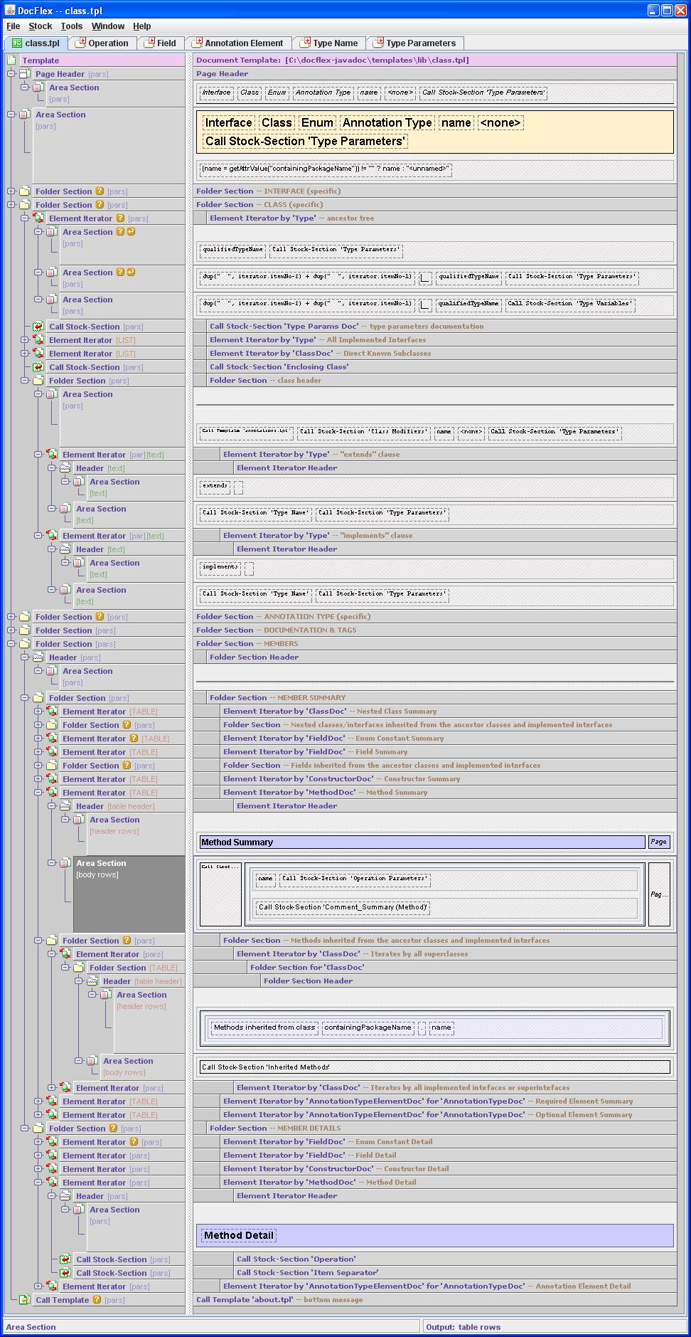 DocFlex/Javadoc 1.5.6, multi-format doclet and rapid doclet ...